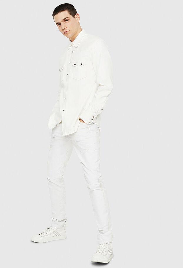D-LEO, White - Denim Shirts