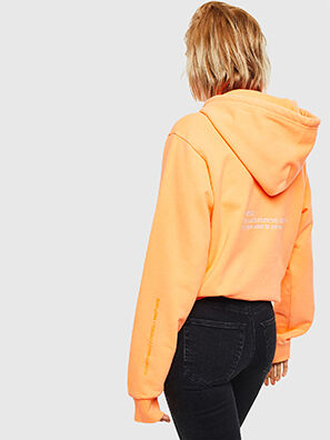 S-GIRK-HOOD-FLUO, Orange - Sweaters
