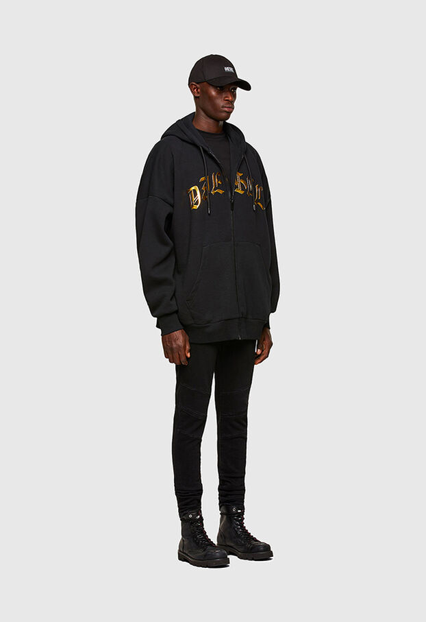 S-OXI-ZIP-A1, Black - Sweaters