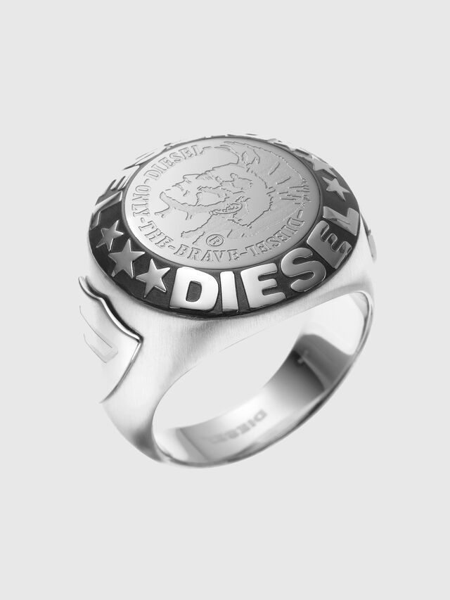 RING WITH AN INDIAN, Silver