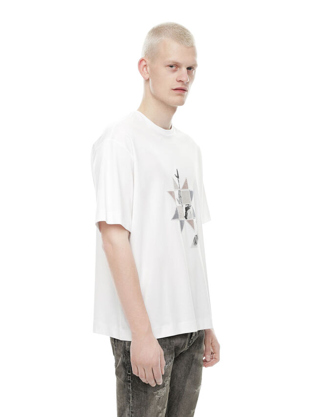Diesel - TEORIAL-PEZZABOY2, White - T-Shirts - Image 3