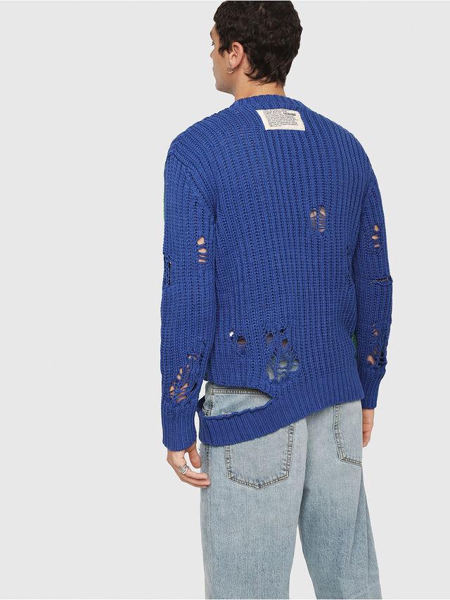 Diesel - K-DANIEL, Blue/Green - Knitwear - Image 2
