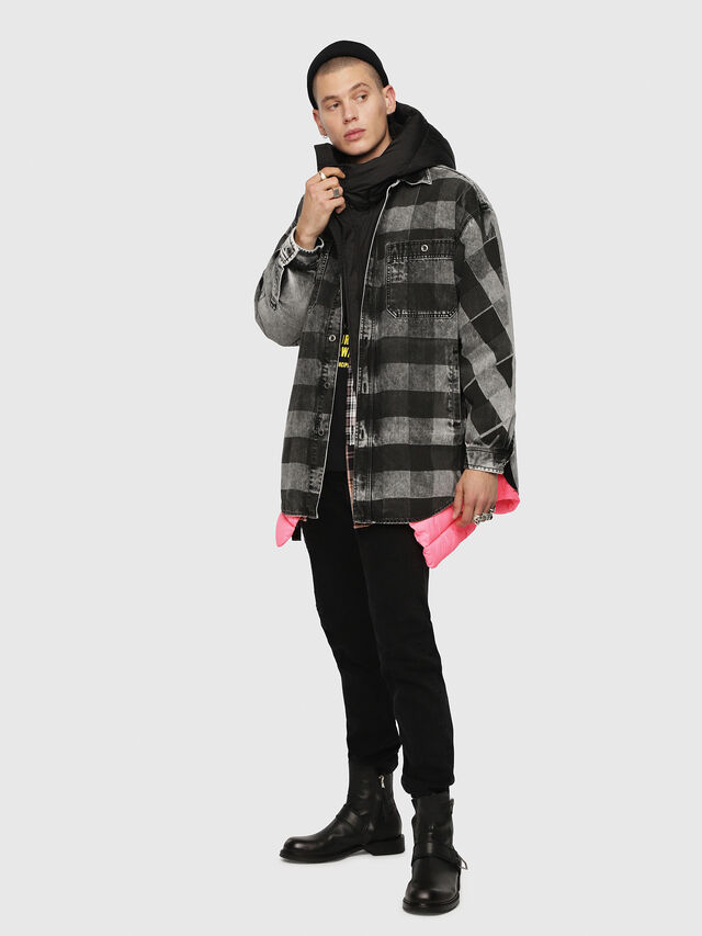 Diesel - D-LOREN, Black/Grey - Denim Jackets - Image 4