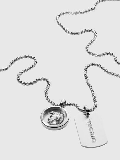 Diesel - DX1209, Silver - Necklaces - Image 2