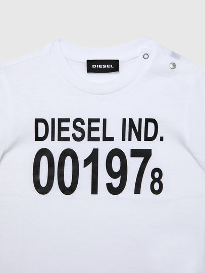 Diesel - TDIEGO001978B, White/Black - T-shirts and Tops - Image 3