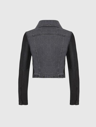 Diesel - L-LYLE, Black - Leather jackets - Image 2
