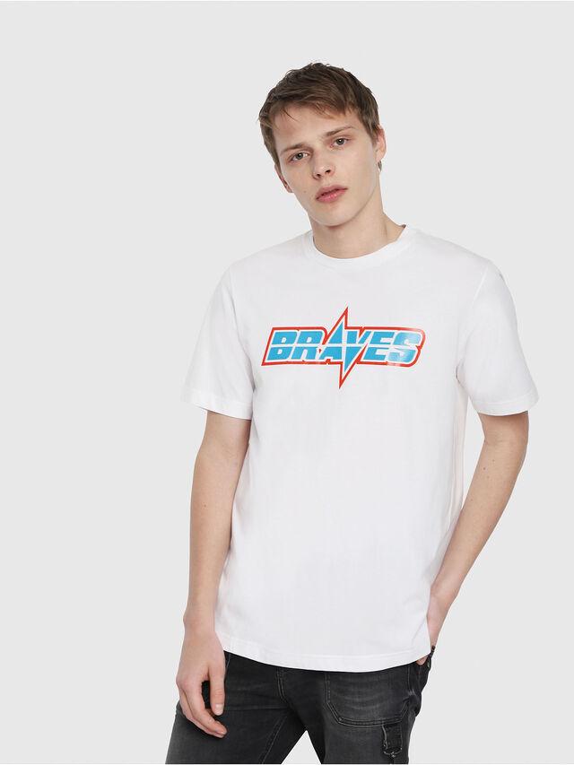 Diesel - T-JUST-YB, White - T-Shirts - Image 1