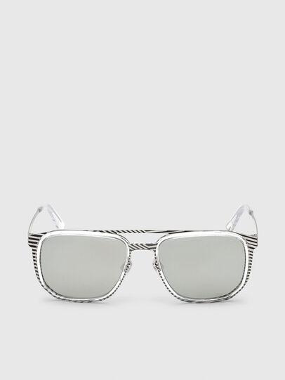 Diesel - DL0294, White/Black - Sunglasses - Image 1