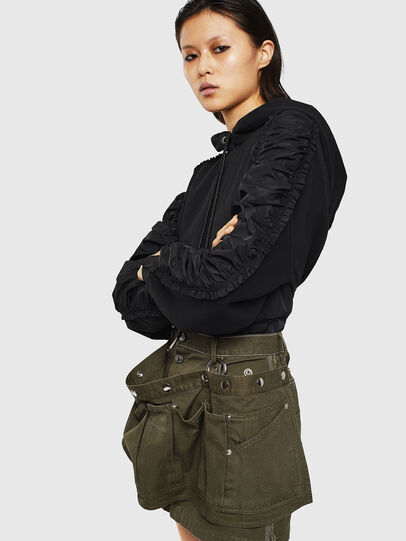 Diesel - O-LADEL, Military Green - Skirts - Image 4