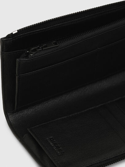 Diesel - L-24 ZIP, Black - Zip-Round Wallets - Image 4
