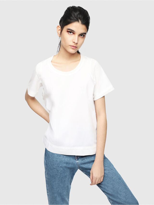 Diesel - T-SELLY, White - T-Shirts - Image 1
