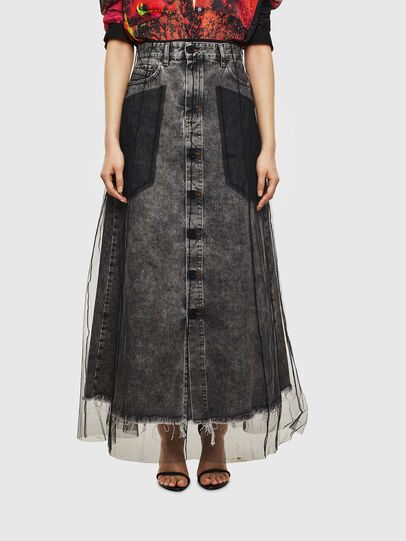 Diesel - O-MARGY, Black - Skirts - Image 1