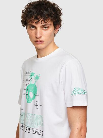 Diesel - T-JUST-B61, White - T-Shirts - Image 5
