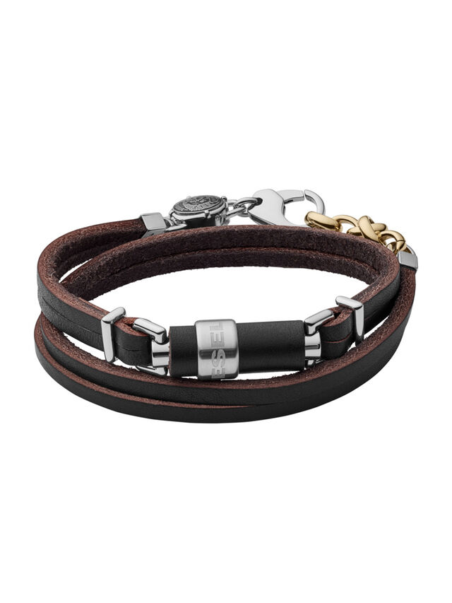 BRACELET DX1082, Black Leather
