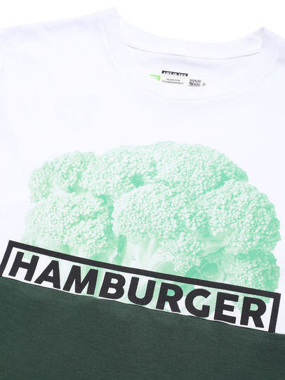 Diesel - D-SHIELD-GREEN, White - T-Shirts - Image 4