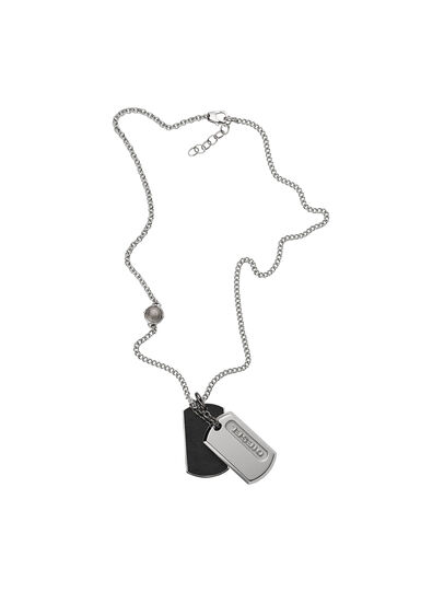 Diesel - NECKLACE DX0954, Silver - Necklaces - Image 1