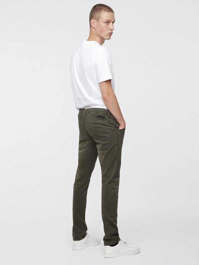 Diesel Krooley JoggJeans 0670M, Military Green - Jeans - Image 3