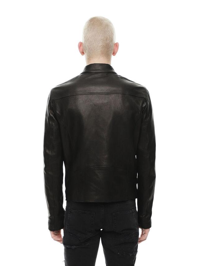 Diesel - LAZING, Black - Leather jackets - Image 2