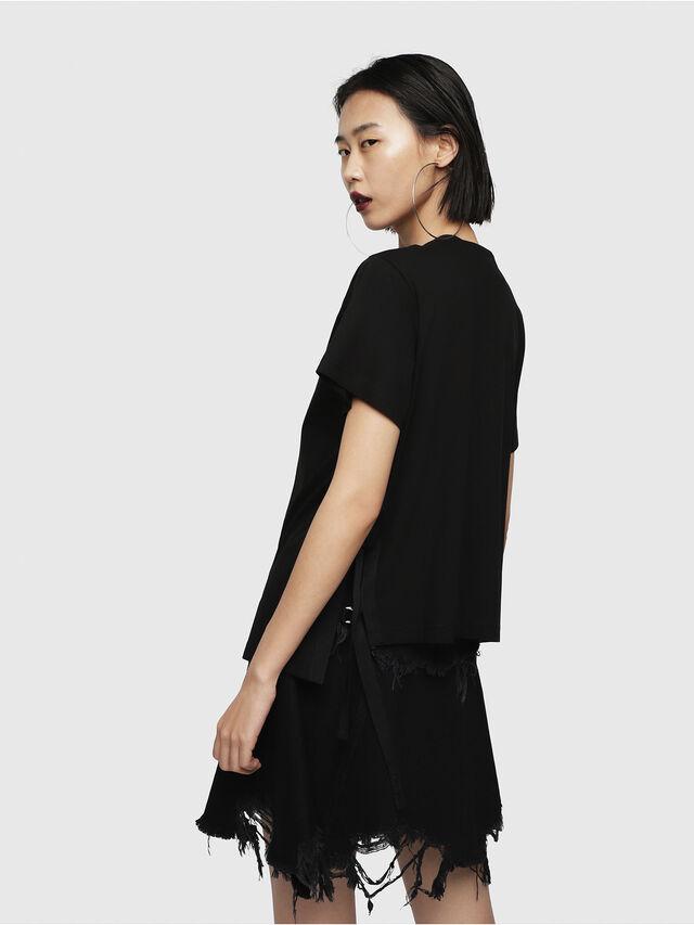 Diesel - T-FLEURIS-A, Black - T-Shirts - Image 2