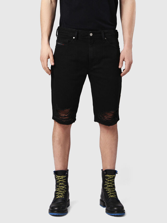 Diesel - THOSHORT, Black Jeans - Shorts - Image 1