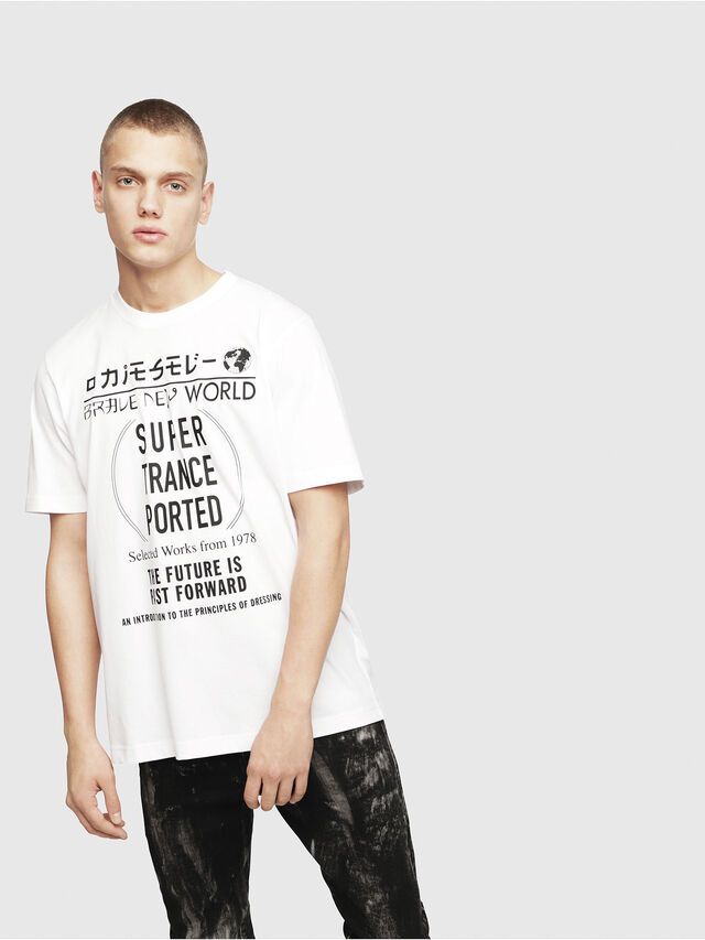 Diesel - T-JUST-YL, White - T-Shirts - Image 1