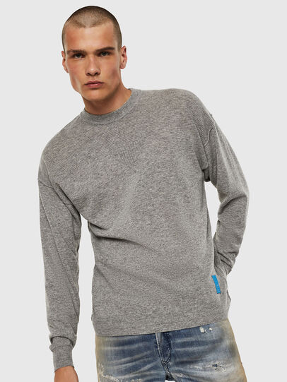 Diesel - K-LETO, Grey - Knitwear - Image 1