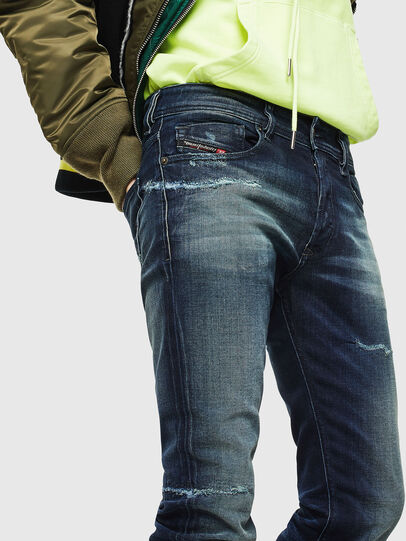 Diesel - Sleenker 0097P, Dark Blue - Jeans - Image 3