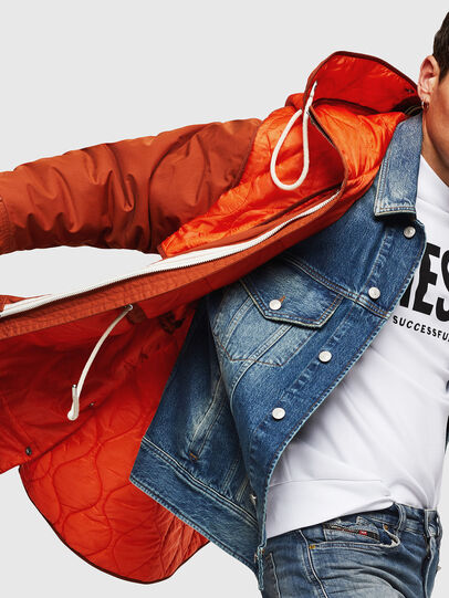 Diesel - W-KOVIK, Orange - Winter Jackets - Image 3