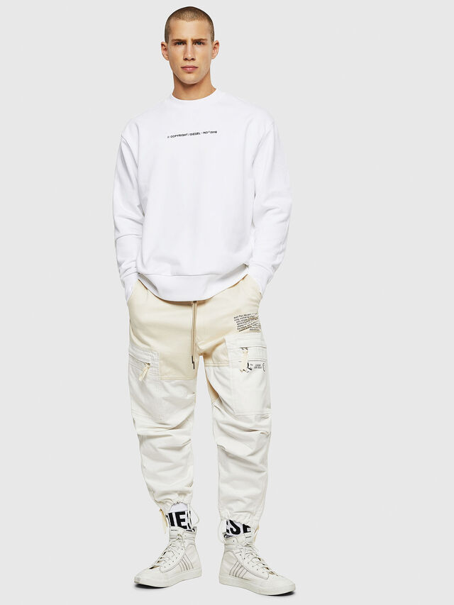 Diesel - S-BAY-COPY, White - Sweaters - Image 4