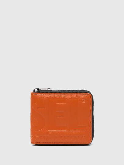 Diesel - HIRESH XS ZIPPI, Orange - Zip-Round Wallets - Image 1