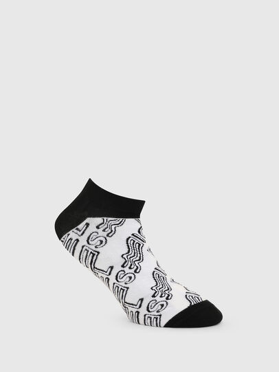 Diesel - SKM-GOST, White/Black - Low-cut socks - Image 1