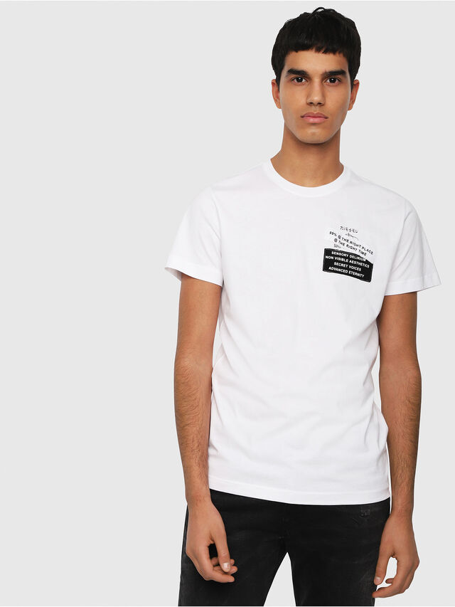 Diesel - T-DIEGO-WAL, White - T-Shirts - Image 1