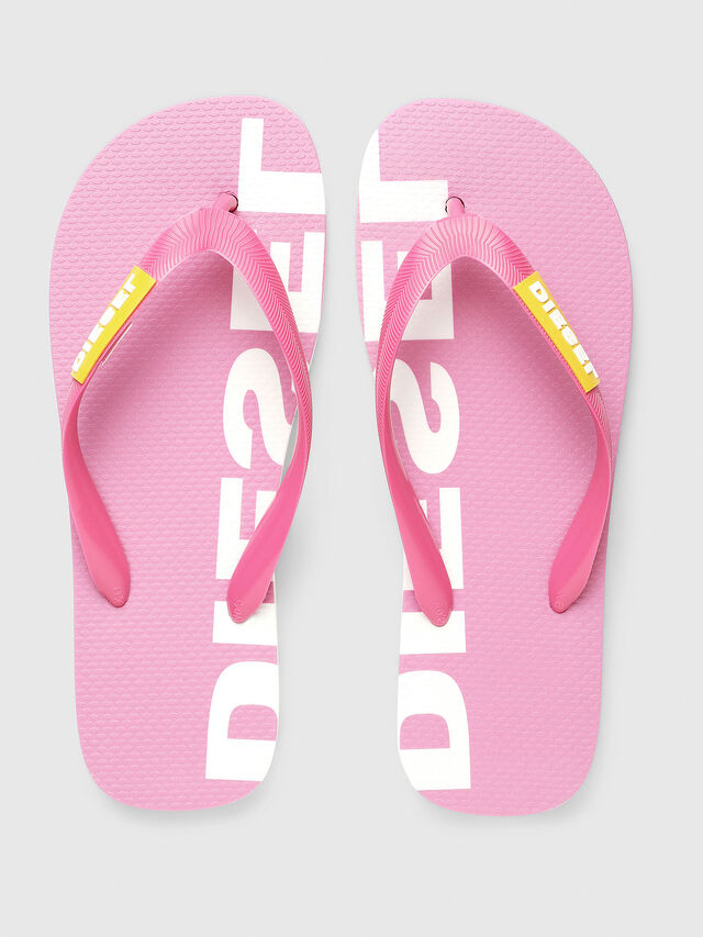 Diesel - SA-BRIIAN W, Pink/White - Slippers - Image 2