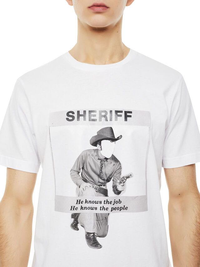 Diesel - TY-BIGSHERIFF, White - T-Shirts - Image 2