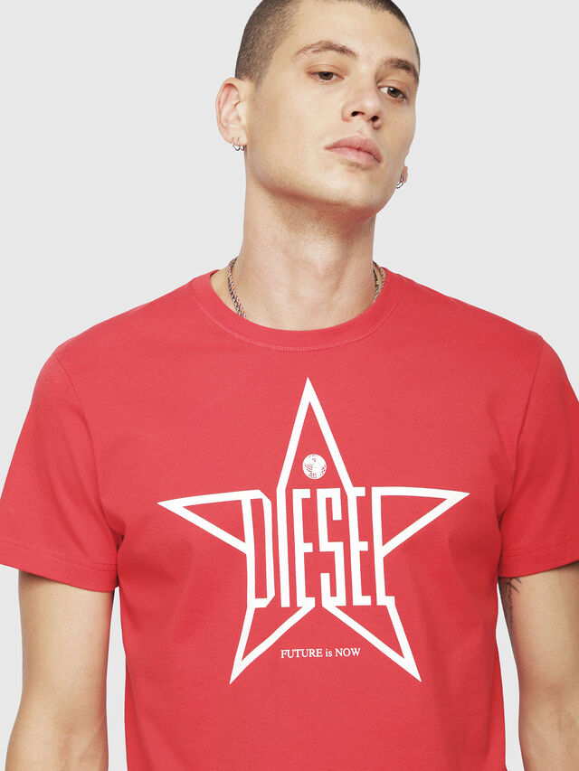 Diesel - T-DIEGO-YH, Red - T-Shirts - Image 3