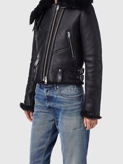Diesel - L-MARGOT, Black - Leather jackets - Image 5