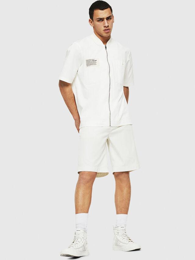 Diesel - P-WHOLSHO, White - Shorts - Image 4