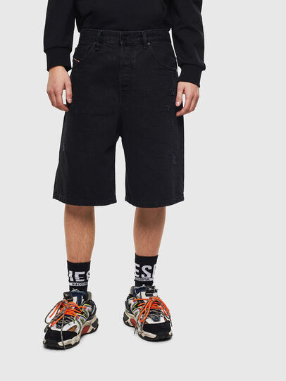 Diesel - D-BRON, Black/Dark grey - Shorts - Image 1