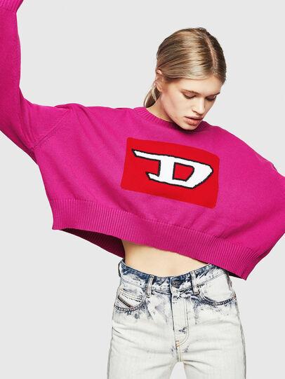 Diesel - M-LINDA, Pink Fluo - Knitwear - Image 4
