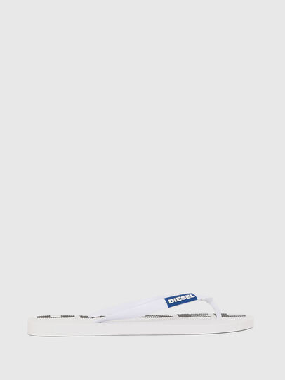 Diesel - SA-BRIIAN, White/Black - Slippers - Image 1
