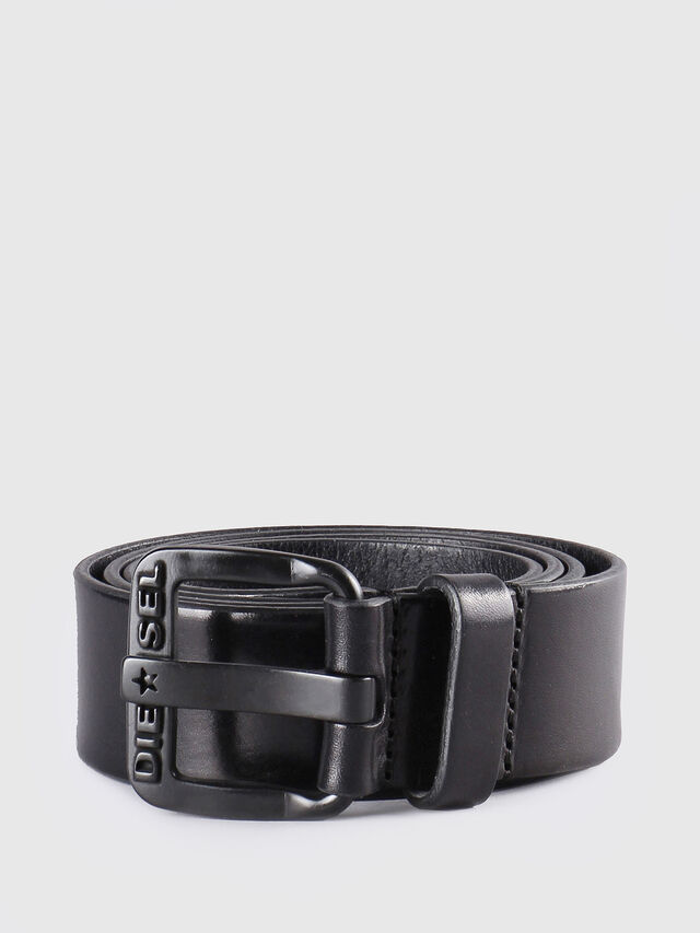 Diesel B-STAR, Black Leather - Belts - Image 1