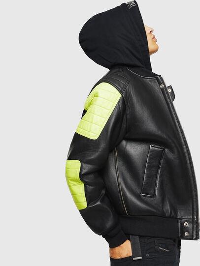 Diesel - L-BRANDO, Black - Leather jackets - Image 6