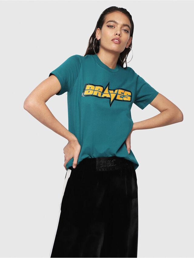 Diesel - T-SILY-WG, Dark Green - T-Shirts - Image 1