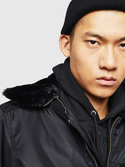 Diesel - W-SLOTKIN-A, Black - Winter Jackets - Image 3