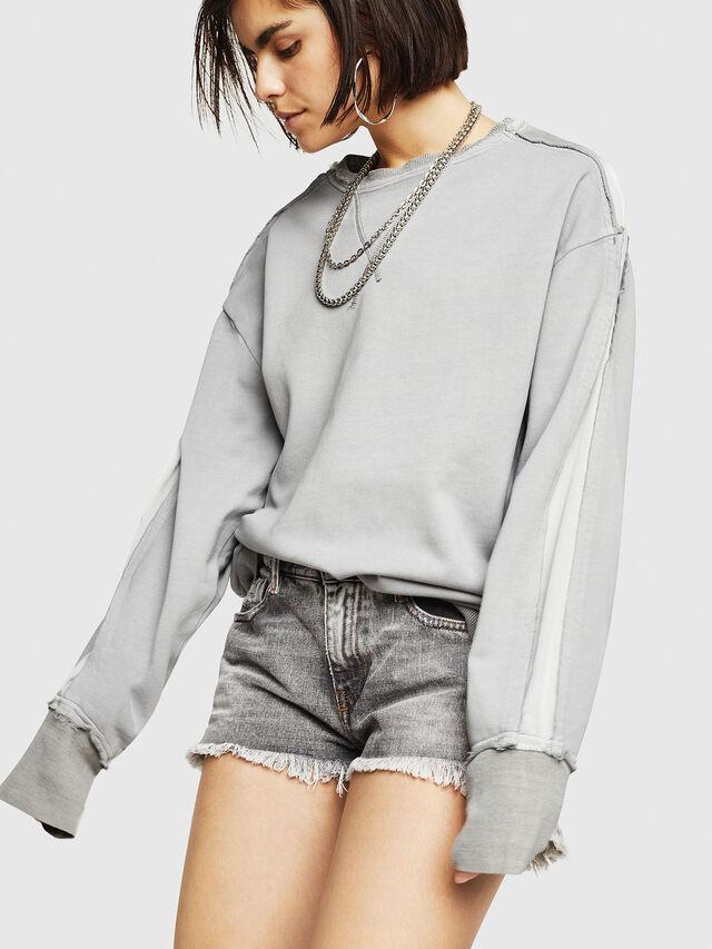 Diesel - F-EVIE, Light Grey - Sweaters - Image 5