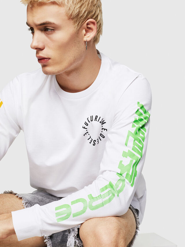 Diesel - T-JUST-LS-Y1, White - T-Shirts - Image 3