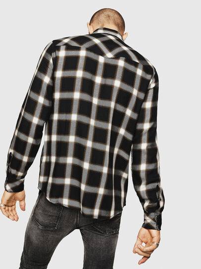 Diesel - S-EAST-LONG-XA, Black/White - Shirts - Image 2
