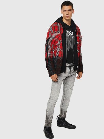 Diesel - Krooley JoggJeans 0091H, Light Grey - Jeans - Image 7