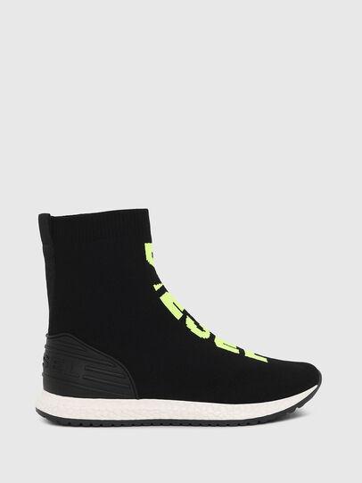 Diesel - SLIP ON 04 MID SOCK, Black - Footwear - Image 1
