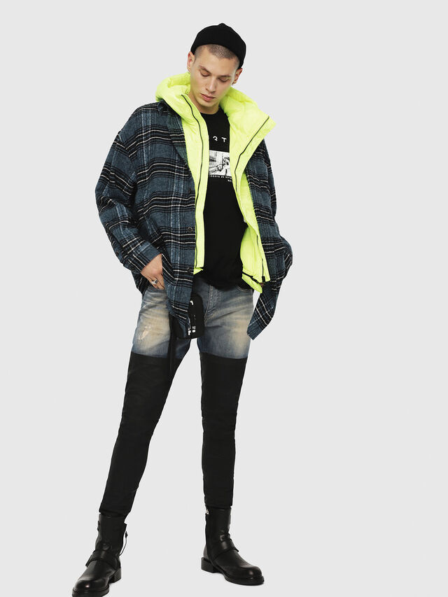 Diesel - W-SUN-REV-SLESS, Yellow Fluo - Winter Jackets - Image 4